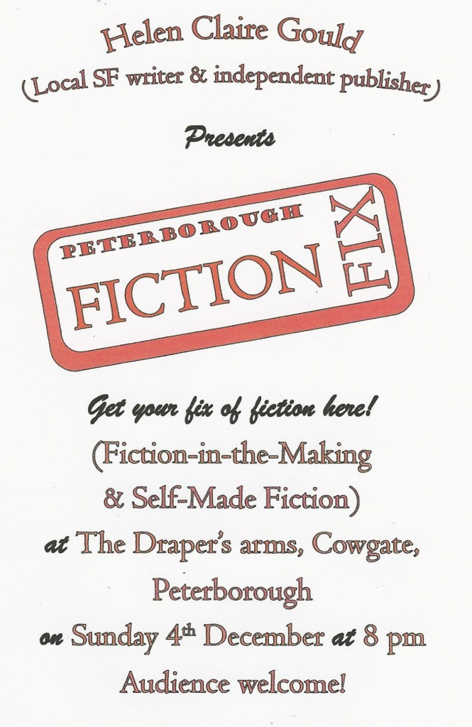 December poster for Fiction Fix