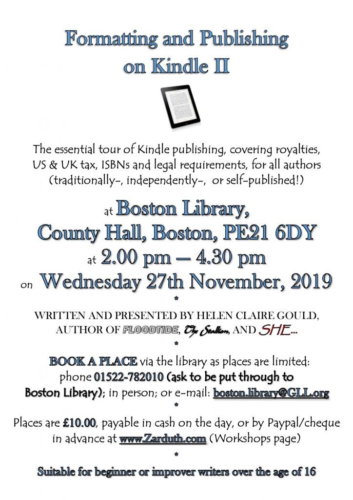 Poster for Formatting & Publishing on Kindle IIh
