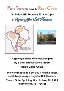 Poster for talk, 26th Feb.