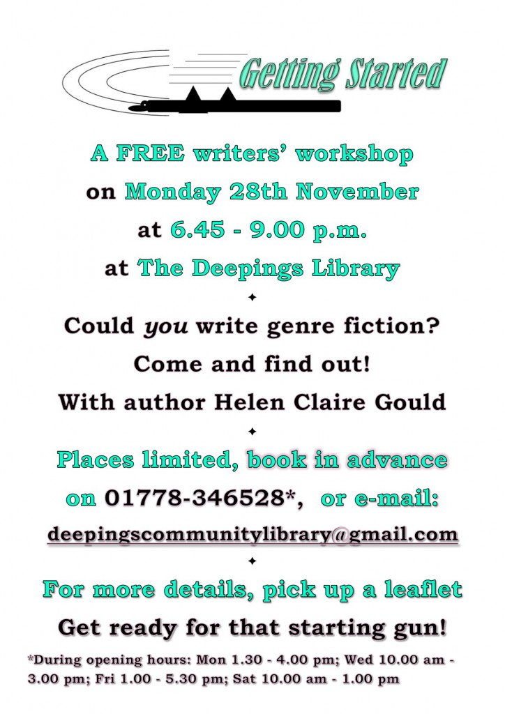 Poster for Getting Started workshop at Deepings Library.