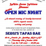 Poster for Spalding Open Mic Night 4