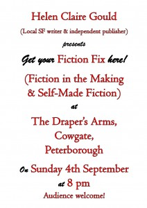 Poster for Fiction Fix 1st meeting