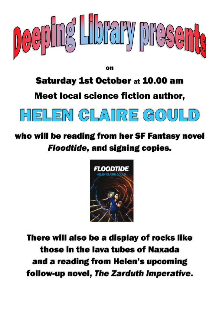 Author Event at Deepings Library for Helen Claire Gould