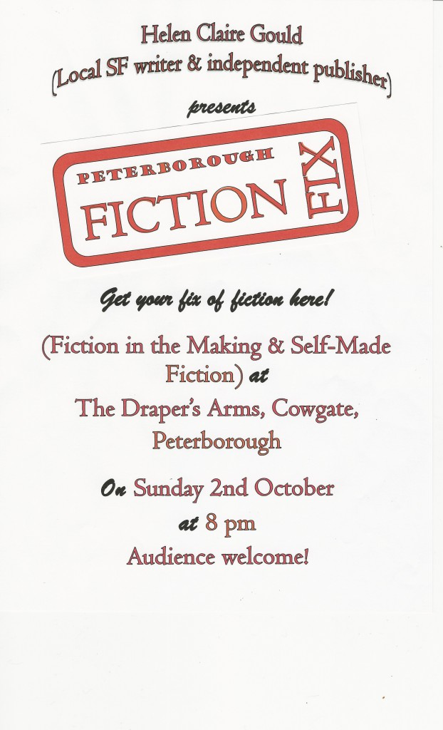 Peterborough Fiction Fix next meeting