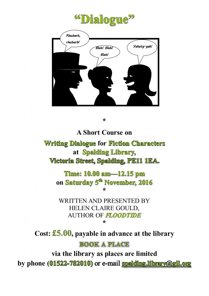 """Dialogue"" poster for Spalding Library"