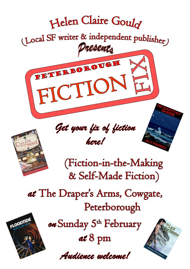 Poster for Fiction Fix meeting, February 2017