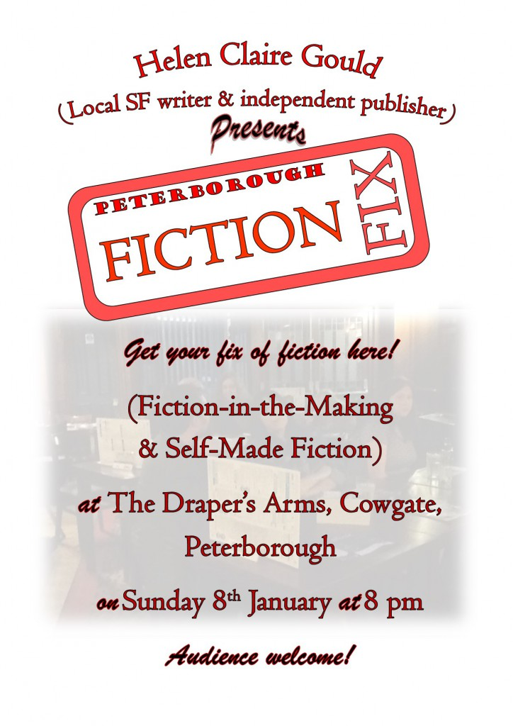 Poster for the January 2017 Fiction Fix meeting