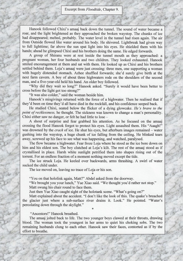 p1 of extract from Floodtide, Chapter 9