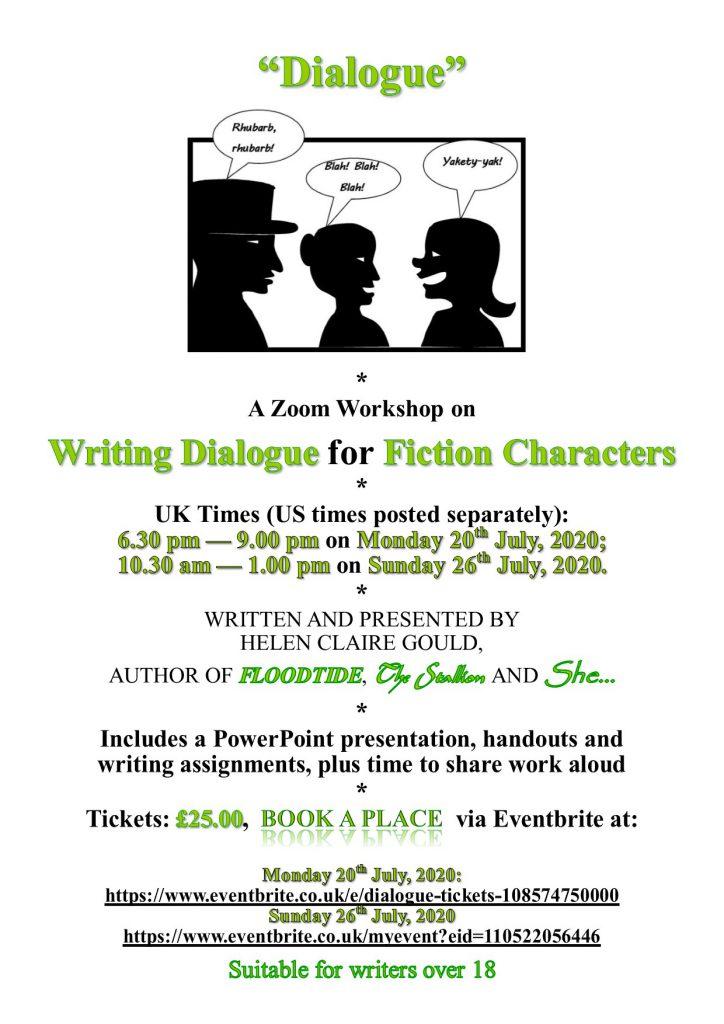 """UK poster for """"Dialogue"""" workshop"""