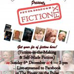 Poster for December Fiction Fix Online meetingi
