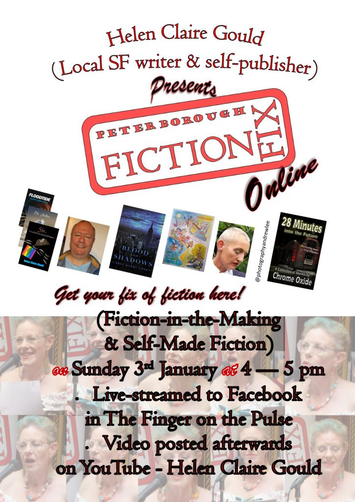 Poster for Fiction Fix Online, January 2021