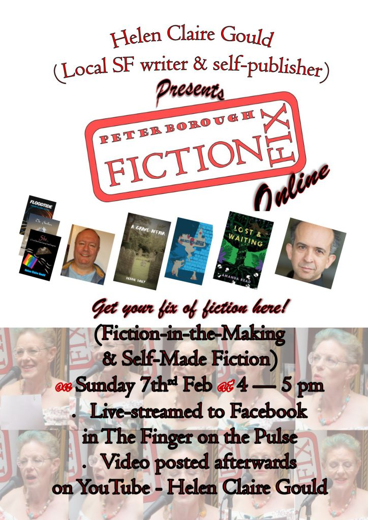 Fiction Fix Online poster for February 2021